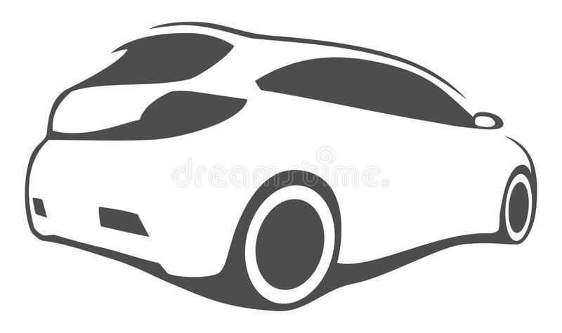 Download Tuning car silhouette stock vector. Illustration of isolated -  43881881