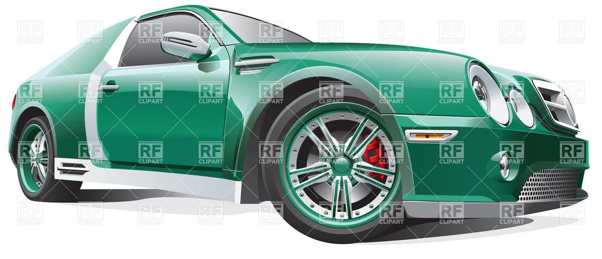 Race tuning car Royalty Free Vector Clip Art