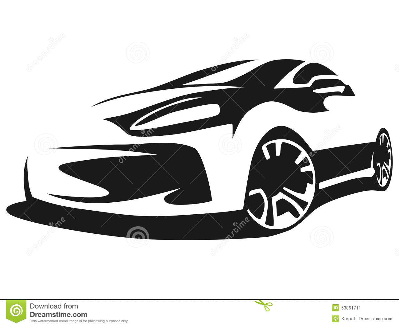 Silhouette tuning car stock vector. Illustration of illustration - 53861711