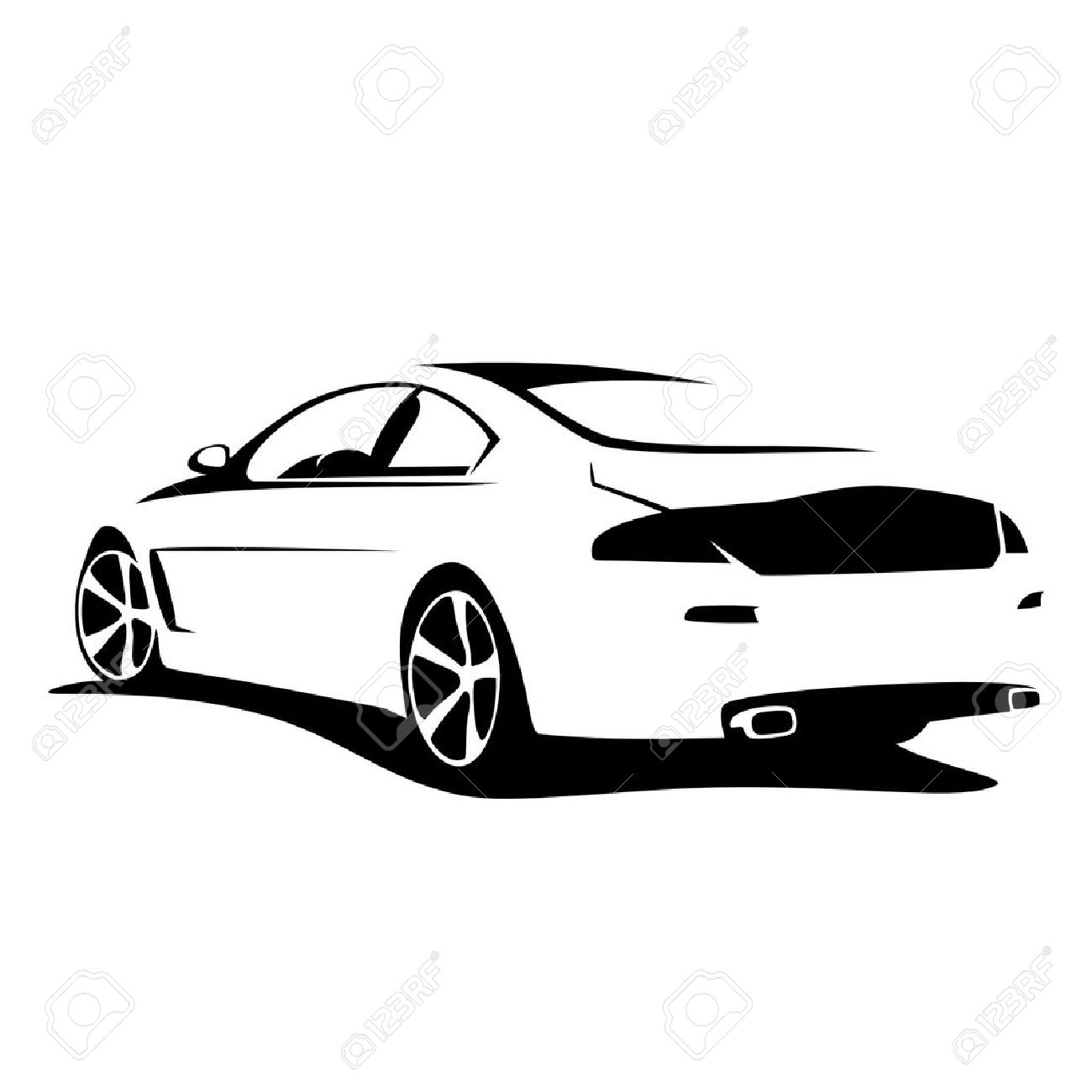 tuning car silhouette Stock Vector - 20227405