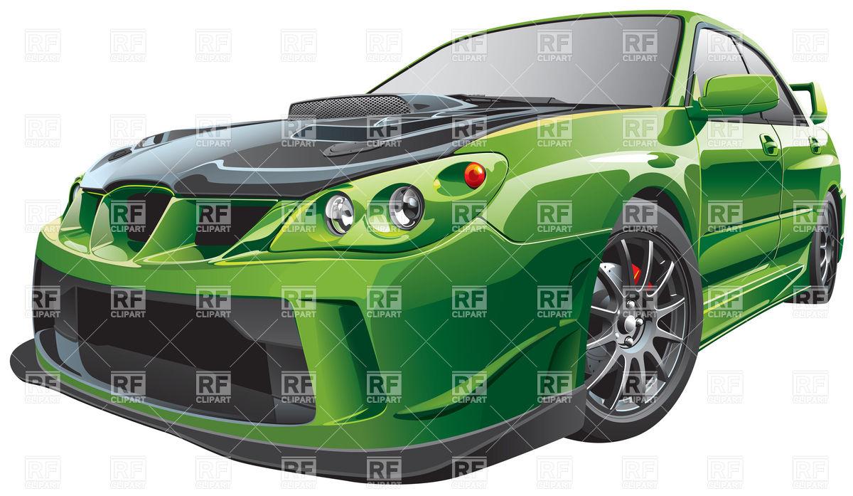 Tuning street-racing car Royalty Free Vector Clip Art