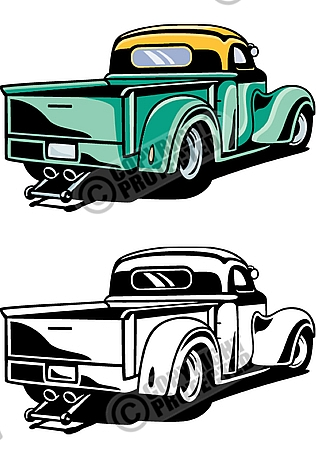 Hot Rod Vector Tuning Car Clipart Download