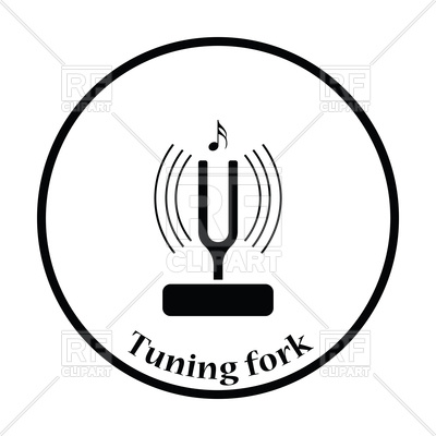 Icon of tuning fork, acoustic resonator, 117516, download royalty-free  vector vector ClipartLook.com