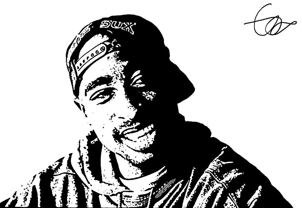 black_and_white_tupac_by_charlieali-d654tme.jpg (1024×705) · Tupac  ShakurClipart ClipartLook.com