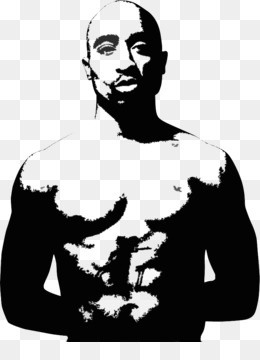 Tupac Shakur Wall decal Stick - Tupac Shakur Clipart