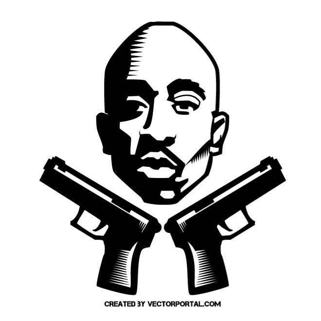 Tupac vector graphics by Vect - Tupac Shakur Clipart