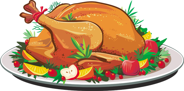 turkey dinner clipart