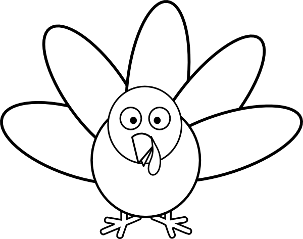 turkey feather clipart black and white