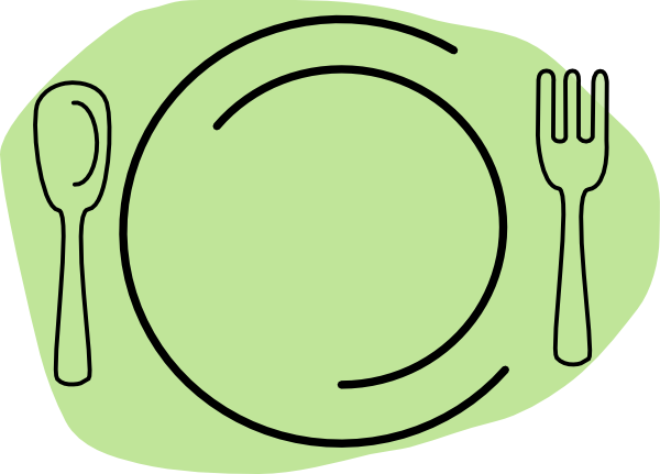Turkey Dinner Plate Clipart B - Dinner Plate Clipart