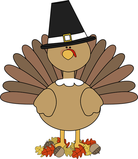 Turkey Pilgrim and Autumn Leaves