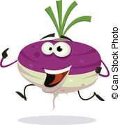 Turnip Clipartby ynmcreations2/3,303; Ca-Turnip Clipartby ynmcreations2/3,303; Cartoon Happy Turnip Character Running - Illustration of a.-8
