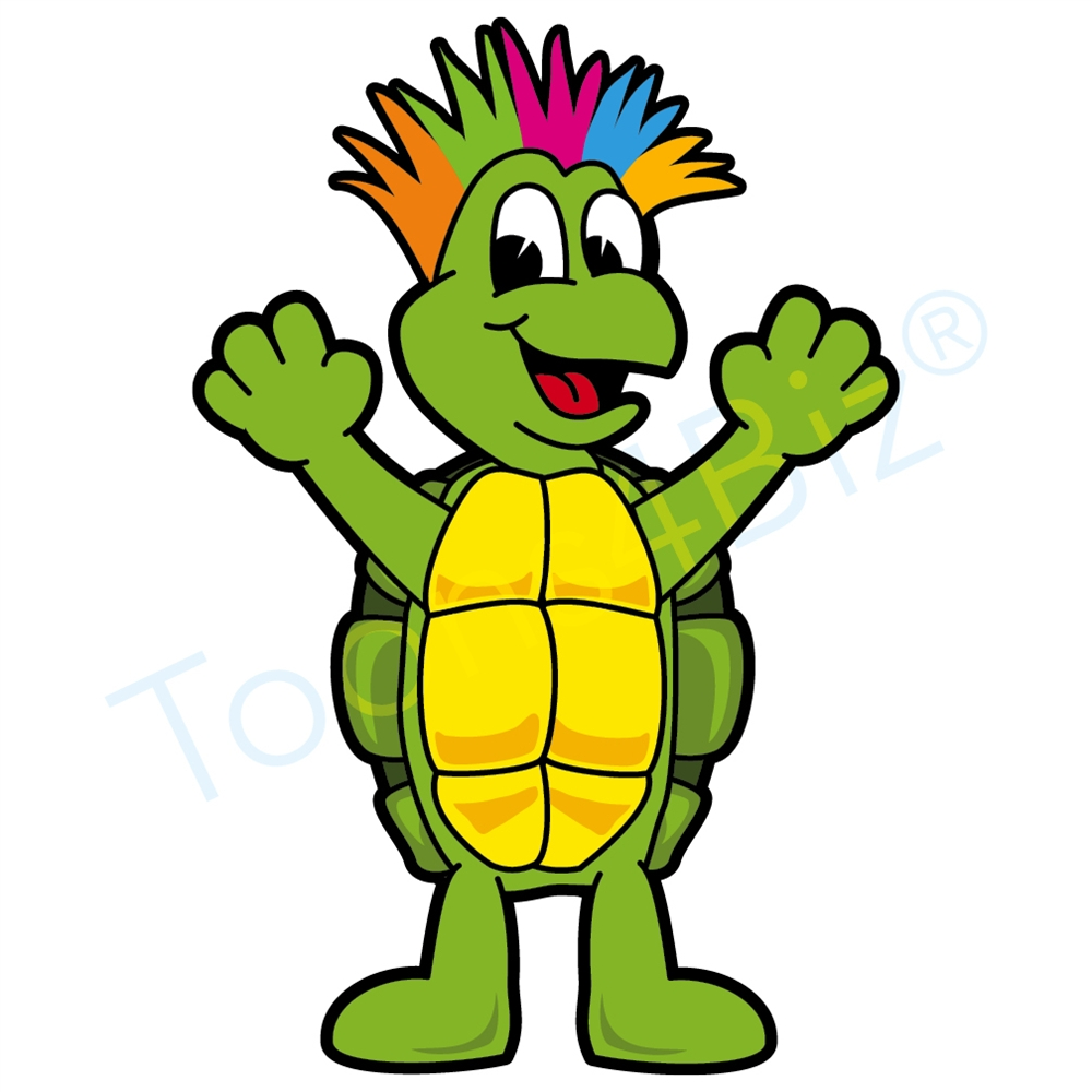 Turtle Mascot with Crazy Hair-Turtle Mascot with Crazy Hair-7