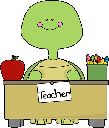 Turtle Teacher Clip Art Image Turtle Tea-Turtle Teacher Clip Art Image Turtle Teacher Sitting Behind A Desk-17