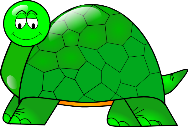 ... Turtle With Large Shell Clip Art - vector clip art .