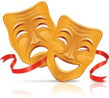 Tutankhamun Mask; Mask Icon - Drama Masks Clipart