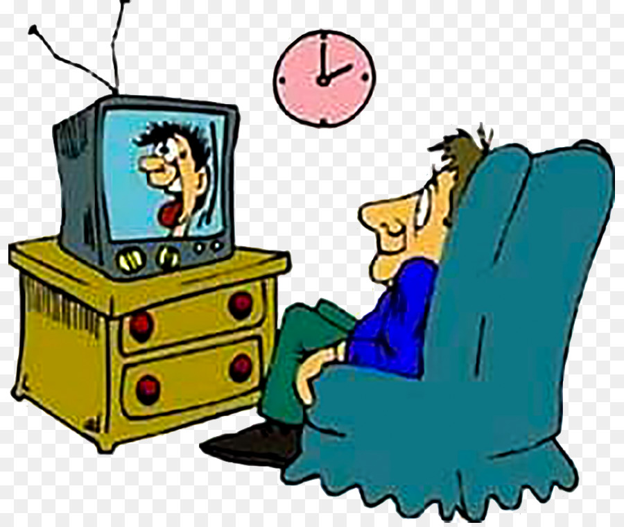 Television show Diagnose Clip art - Men watch TV
