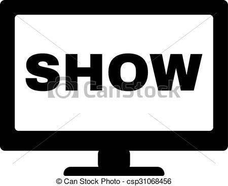 The tv show icon. Television and telly, telecasting, broadcast symbol. Flat  -