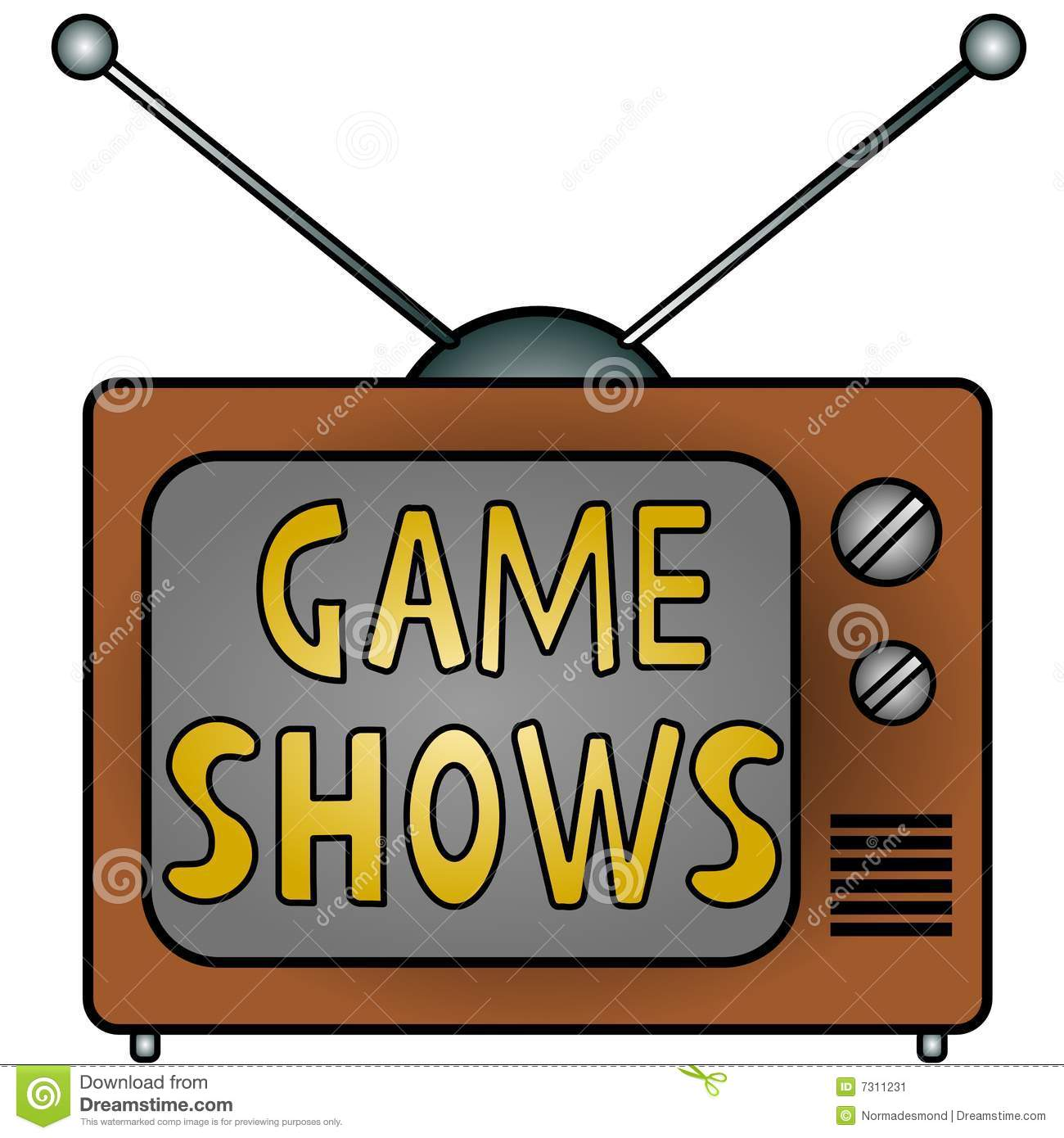 TV Game Shows stock illustration. Illustration of backgrounds - 7311231