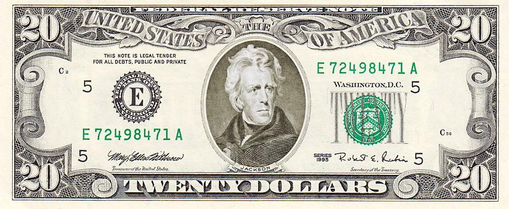 Twenty Dollar Bill Us Http Www ..