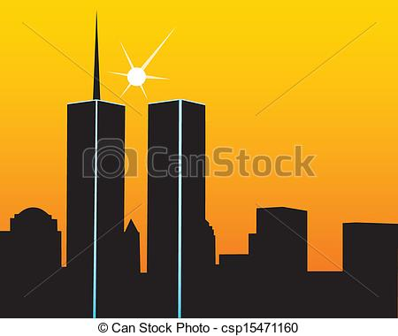 ... Twin Towers - The Twin Towers On A Y-... Twin Towers - The twin towers on a yellow orange background-18