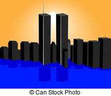... Twin Towers - Twin Towers And The Su-... twin towers - Twin Towers and the sunset with reflection-19