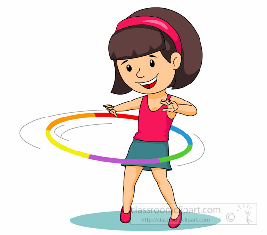 Twirling Hula Hoop Around . - Hula Hoop Clip Art