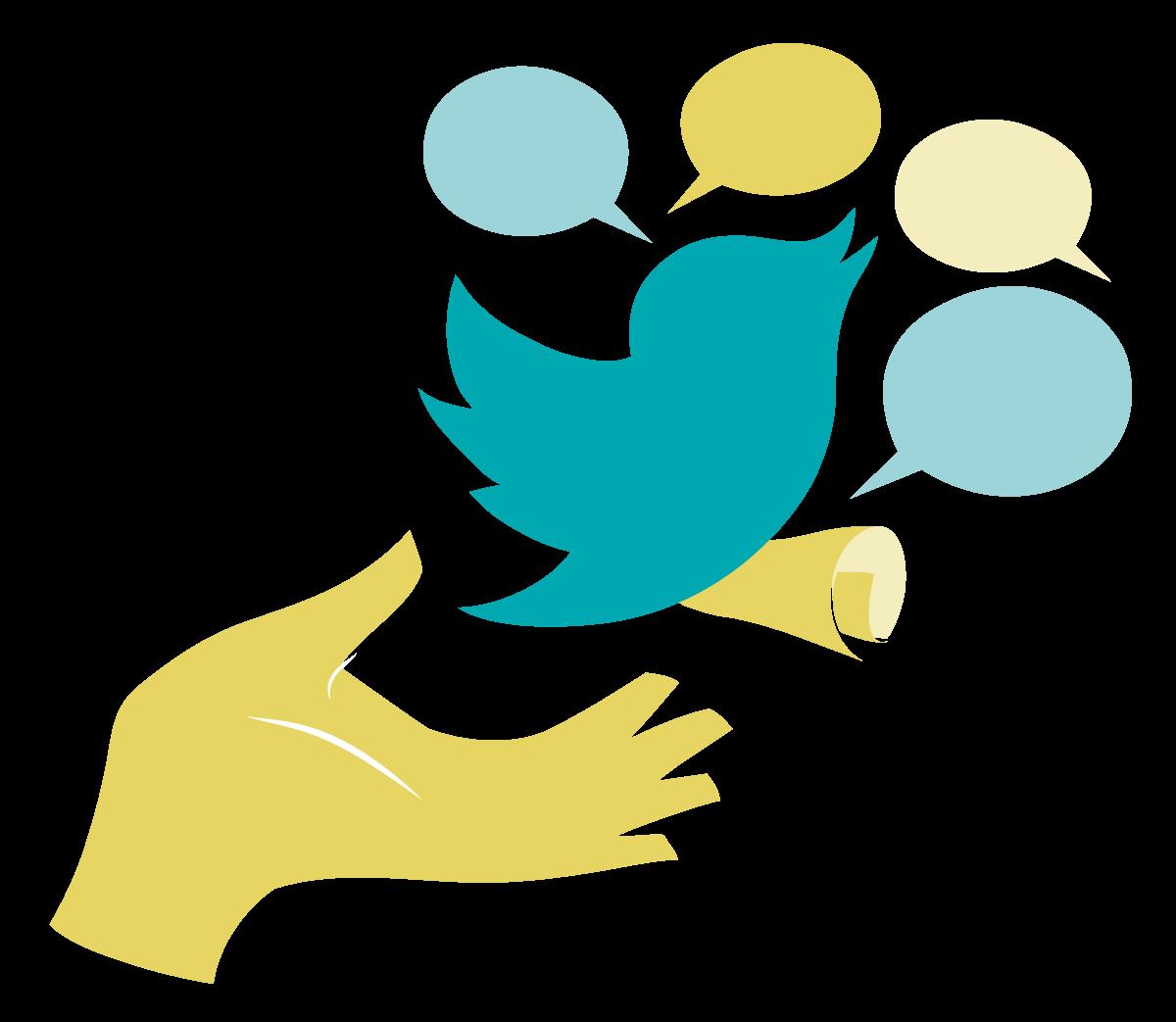 Free Vector Twitter Clipart.  - Twitter Clipart