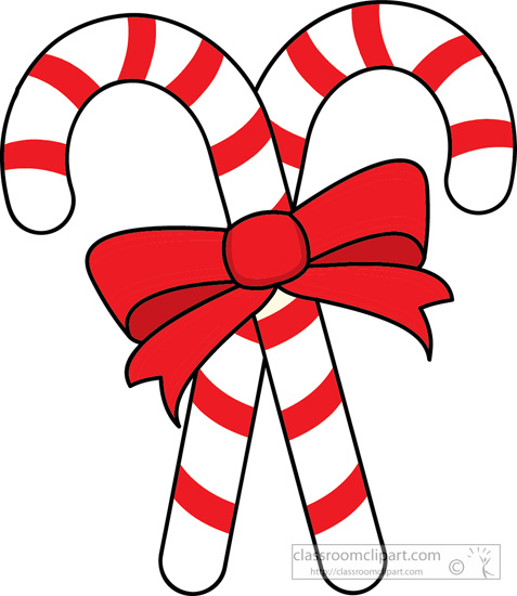 two candy canes red ribbon. Size: 102 Kb From: Christmas Clipart