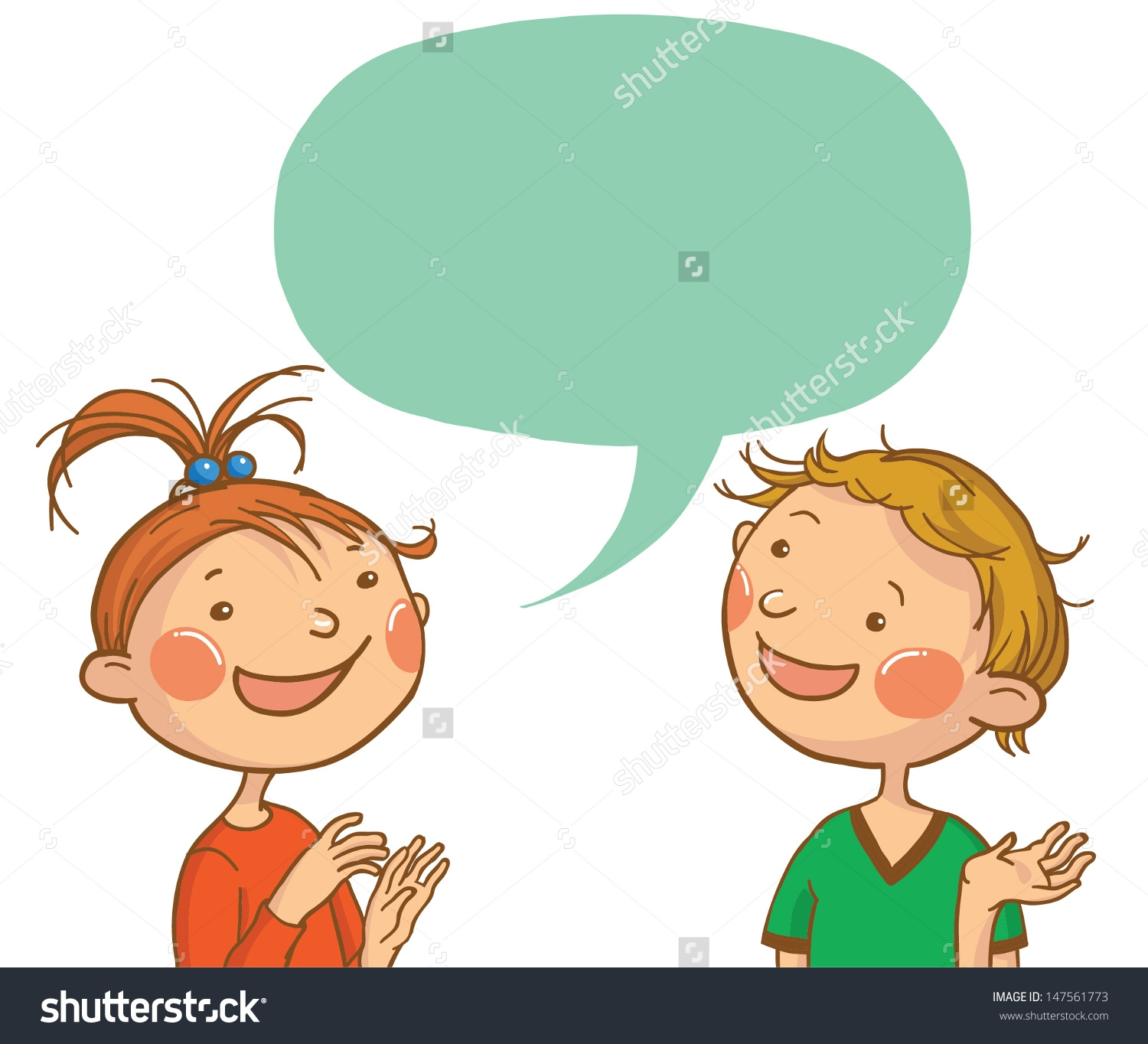 Two Children Talking Clipart-Two Children Talking Clipart-18