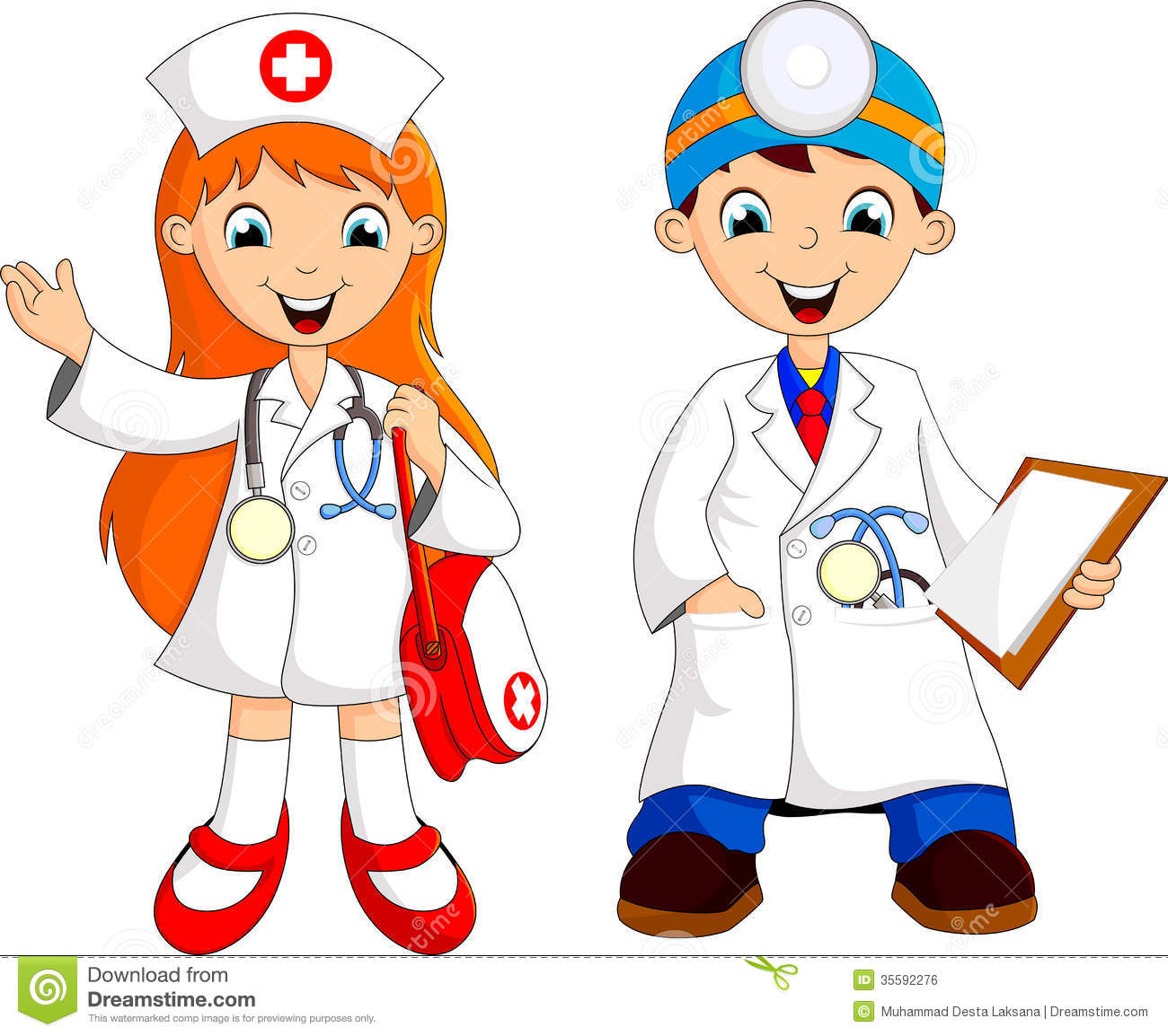 Two Cute Young Doctor Royalty Free Stock Image Image 35592276