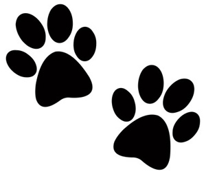 Two Dog Paw Prints in Silhouette Cartoon-Two Dog Paw Prints in Silhouette Cartoon Dog Clip Art-4
