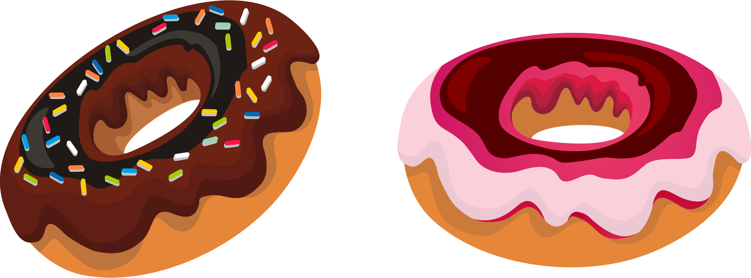 Two donut donut clipart free .