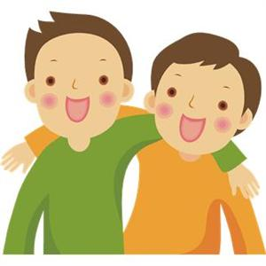 Two Friends Clipart
