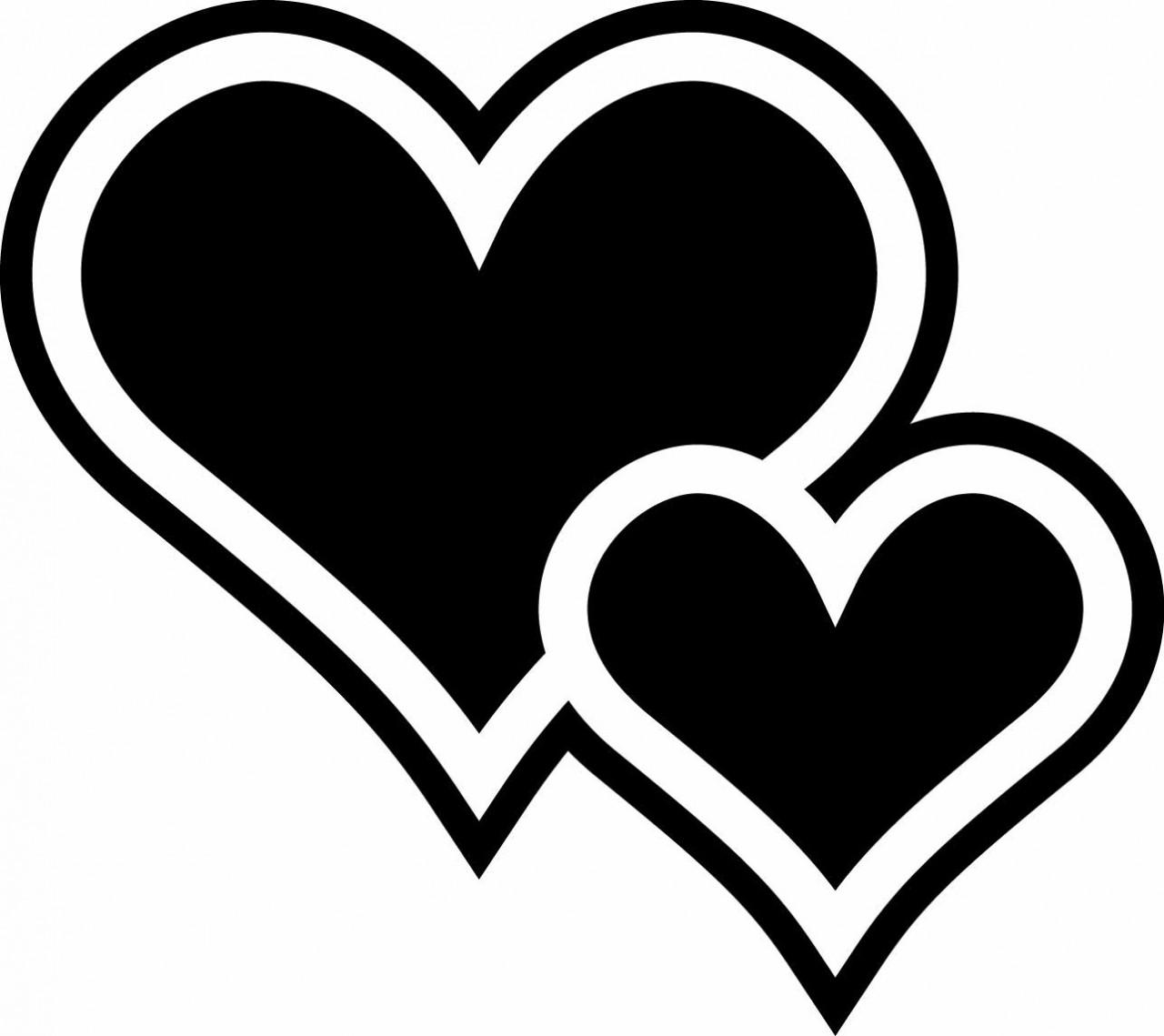 Two Hearts Chalkboard .