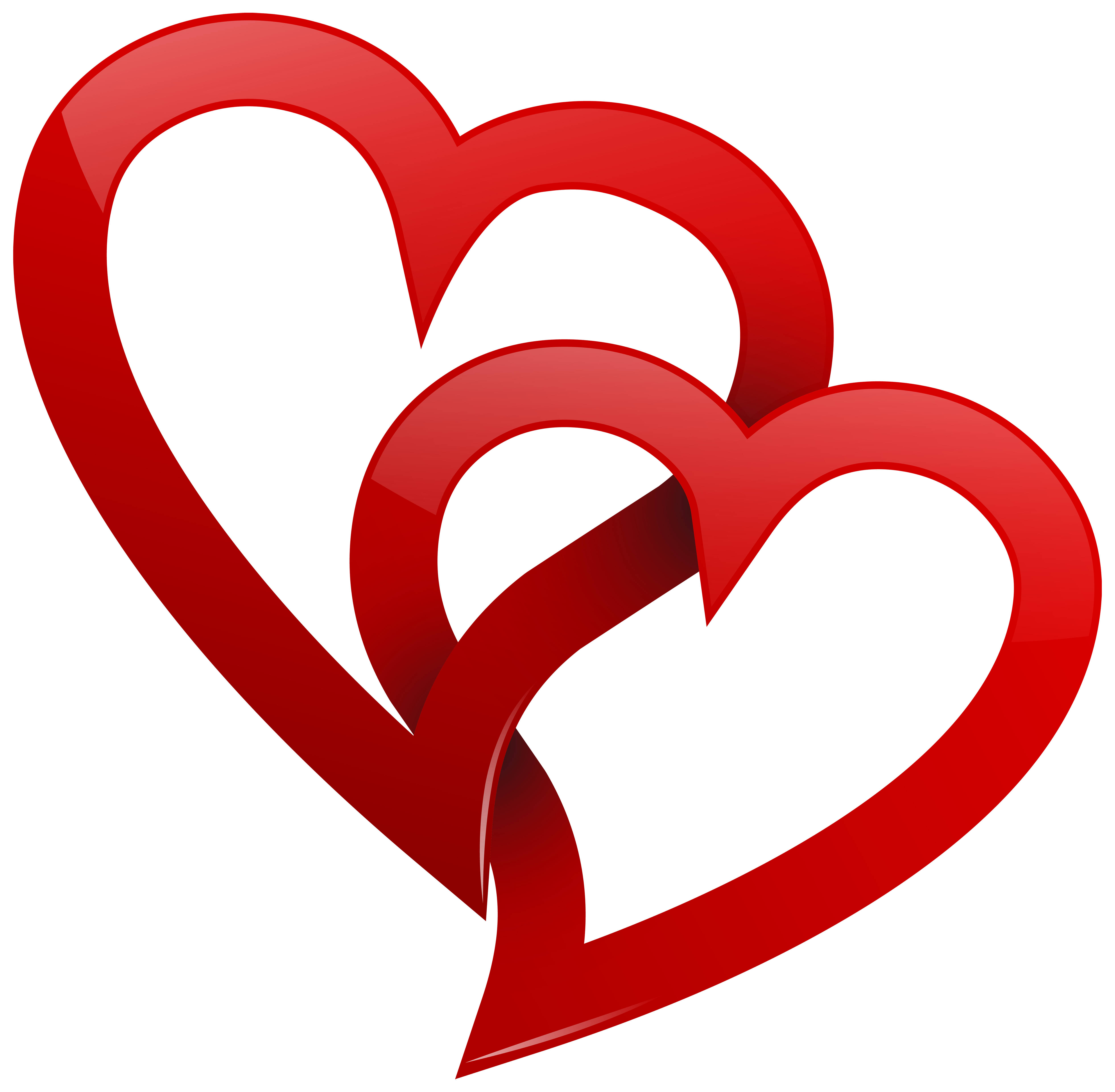 ... Two hearts clipart ...