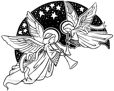 Two Hearts Design Angels Clipart