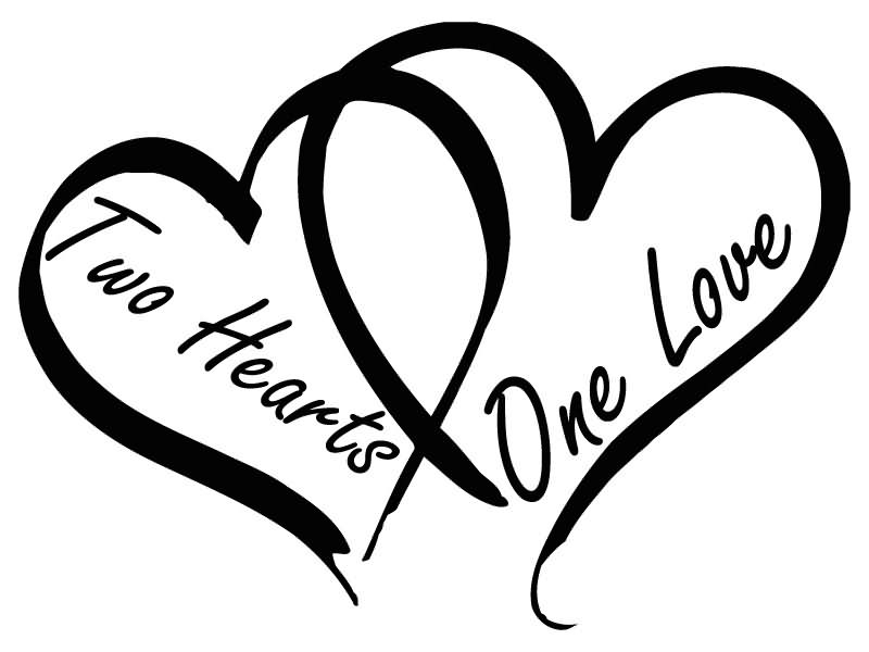 Two hearts one love clipart - Love Clipart Images