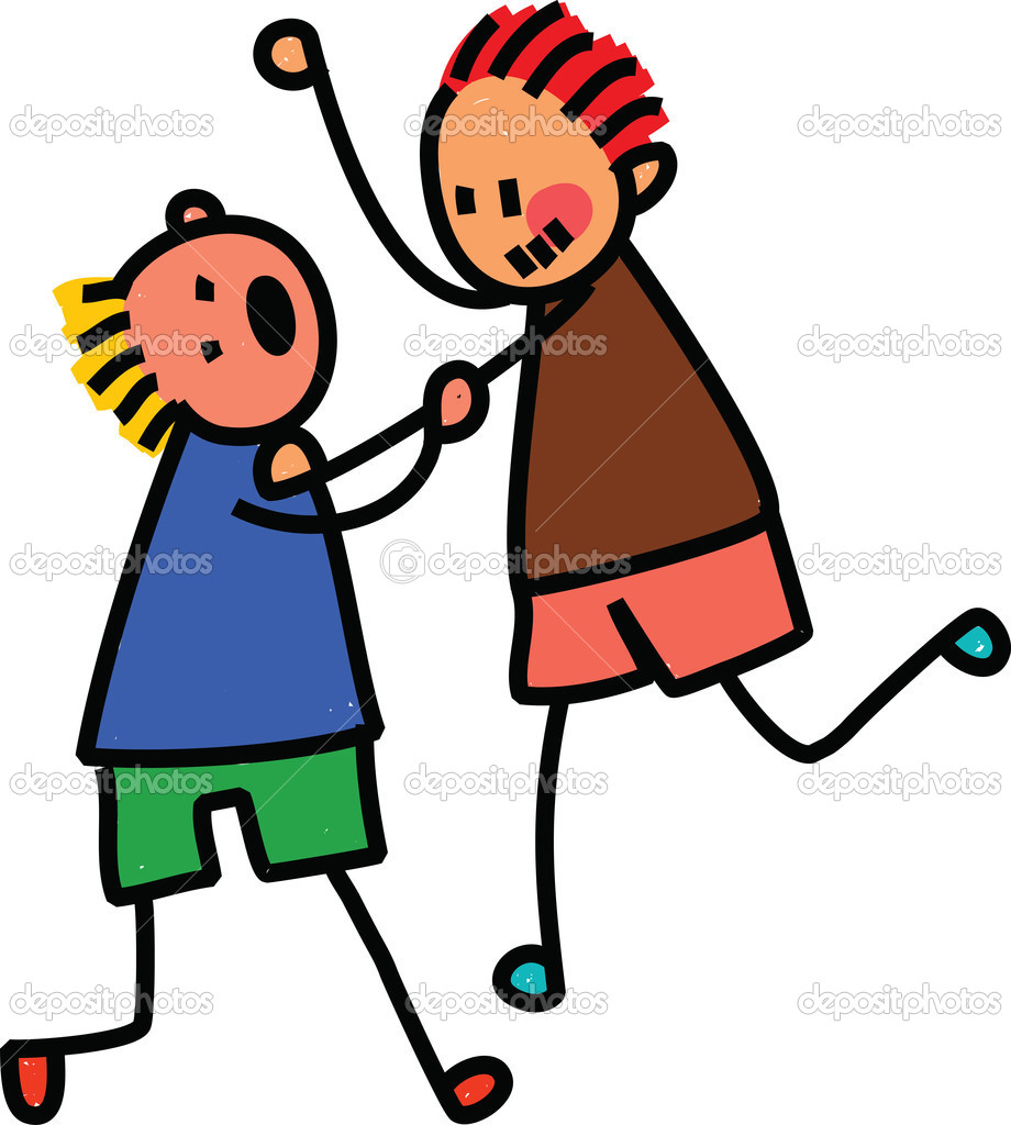 Two Kids Fighting u2014 Stock Vector #64298097