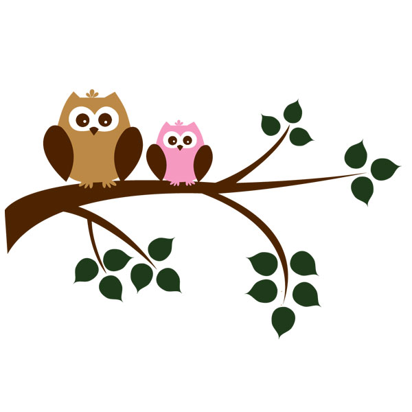 ... Two Owls On Branch Clip Art ...-... two owls on branch clip art ...-16
