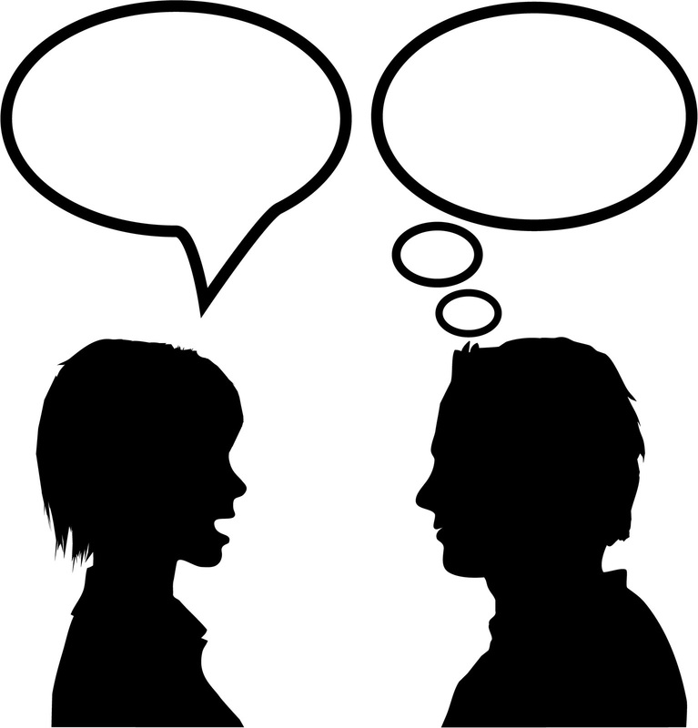 Two People Talking Clip Art. Chapter Summary