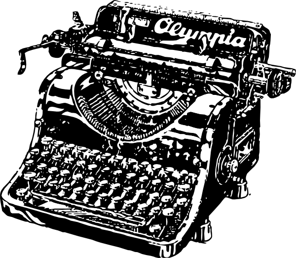 Typewriter Clip Art At Clker Com Vector Clip Art Online Royalty