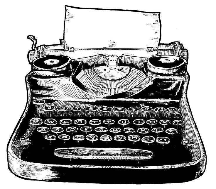 Typewriter clipart - .-Typewriter clipart - .-3