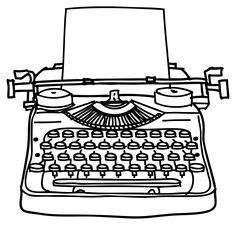 Typewriter Clipart. Typewriter u0026amp; keys