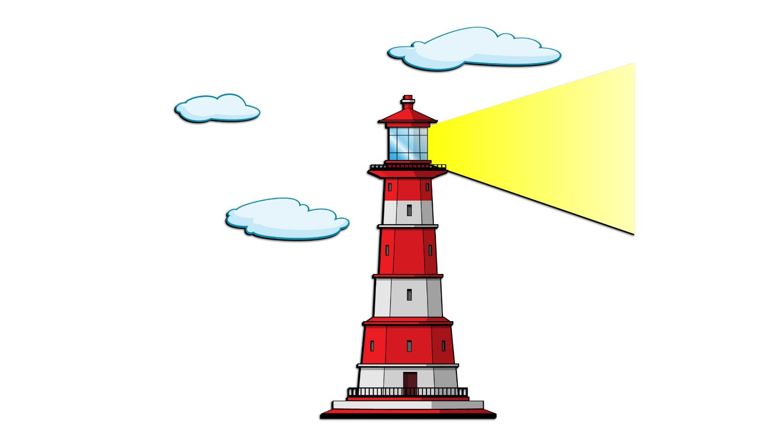 Typical Cartoon Lighthouse Download Roya-Typical Cartoon Lighthouse Download Royalty Free Vector Eps-7