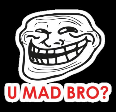 U Mad Bro PNG Transparent Images