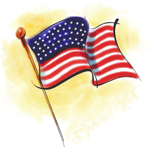 U.S.A. Independence Day Free Clip Art American Flags