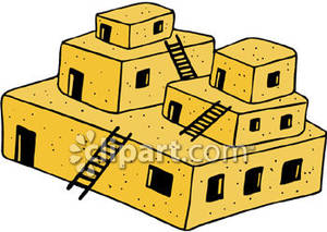 u414adad: brick house clipart. An Adobe Style Building .