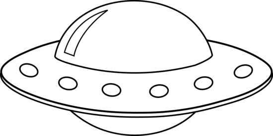 Ufo Black And White Clipart