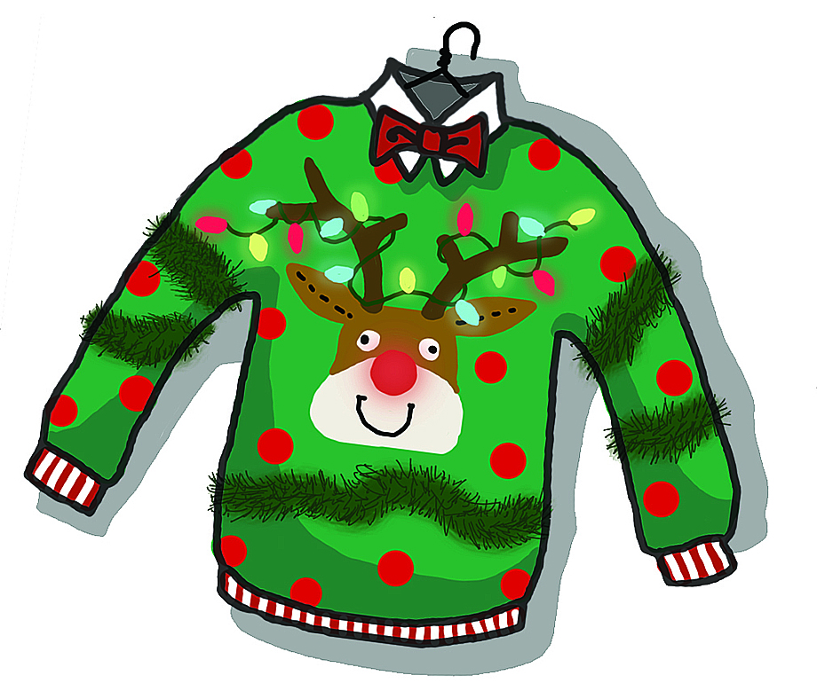 Ugly Christmas Sweater Clip A - Ugly Christmas Sweater Clipart