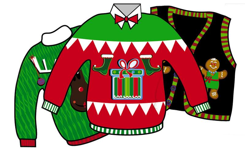 Ugly Christmas Sweater Party  - Ugly Christmas Sweater Clipart